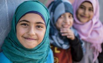 Syrian children living in an informal settlement near the city of Halba in Northern Lebanon.