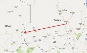 A map of Sudan.