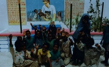 Mural from the people of Somalia to remember Concern aid worker Valerie Placewho was killed in 1993 when she was caught up in gun fire. Photo: Concern Worldwide.