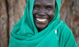 Community member Maceline* visits the Mobile Health Clinic in a remote rural area of Aweil, South Sudan. Photo: Abbie-Trayler Smith