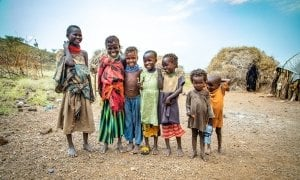 Seven friends from the village of Locheredome, Turkana, Nothern Kenya. Photo: Gavin Douglas