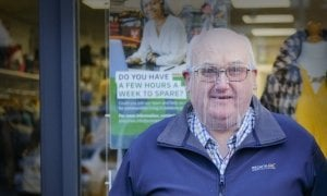 Volunteer Rodney Maxwell pictured outside one of our shops. Photo: Darren Vaughan