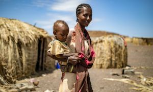 Concern is working in Marsabit, Kenya to provide families like Marin Lemotou and her one-year-old baby Peter with nutritious food. Photo: Ed Ram/Concern Worldwide