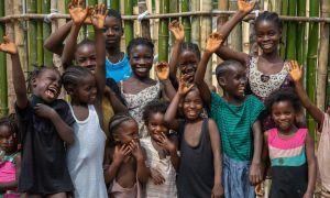 Happy children of Buigba Town, Liberia