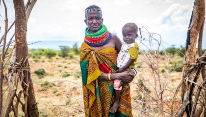 Kenyan mother of seven, Asekon (38). She is a widow living in Turkana, Northern Kenya. Photo: Gavin Douglas / Concern Worldwide