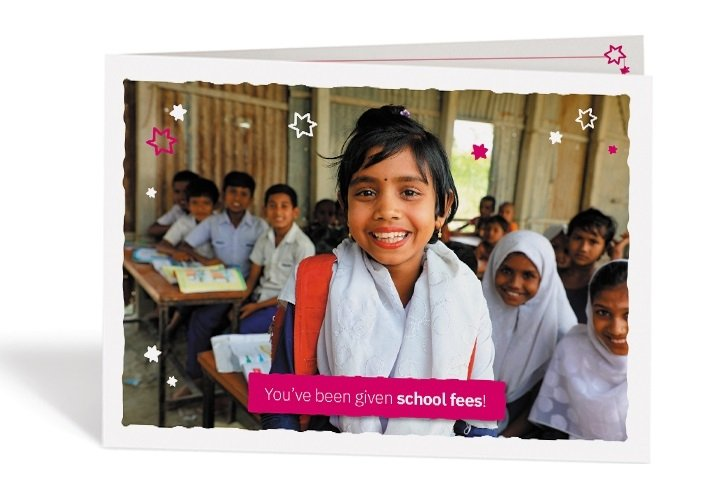 You'll receive a special personalised card to pass on to your friend or loved one.