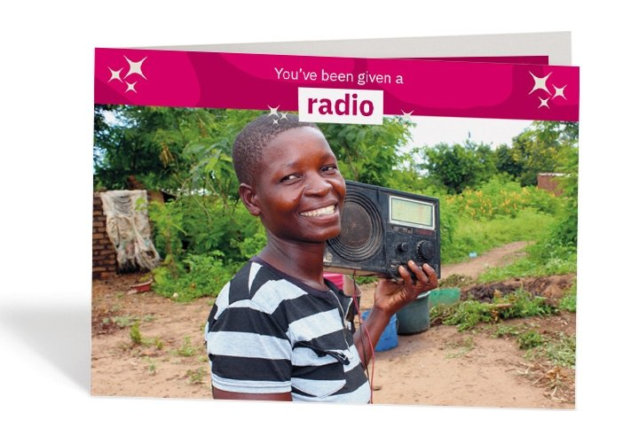 Grace, 26, with her radio at her home in Mlolo, Malawi. Photo: Jason Kennedy / Concern Worldwide