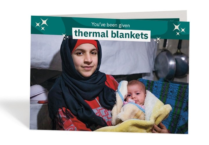 Wafdeh* was so glad that she could keep her baby warm. Photo: Gavin Douglas / Concern Worldwide