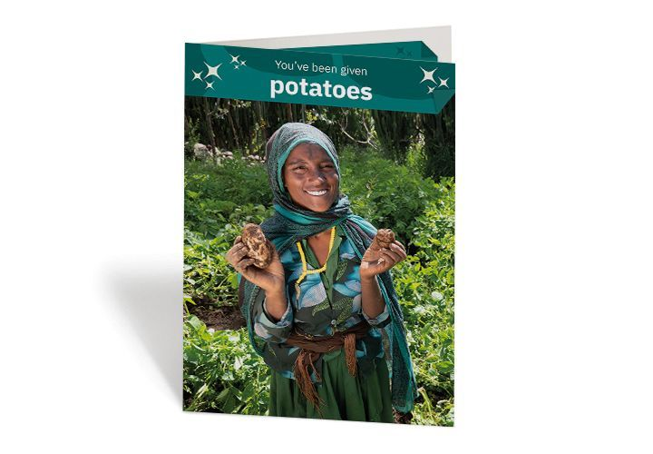 Merema can now grow potatoes in Ethiopia, thanks to Concern. Photo: Kieran McConville / Concern Worldwide