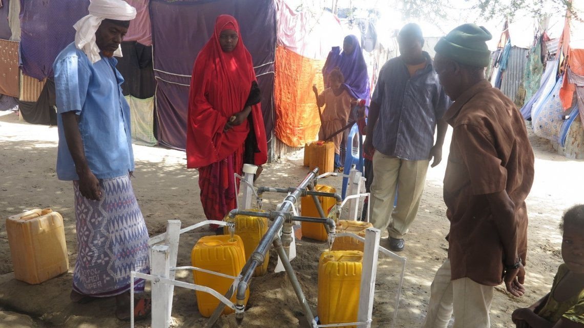 Concern WASH programme participants collecting water in Somalia. Photo: Feysal Abdisalan