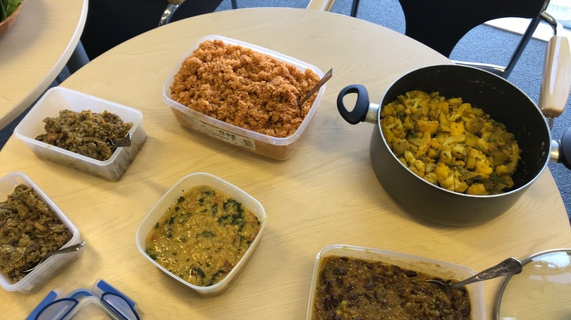 Some of the delicious food from one of our bring and share lunches.