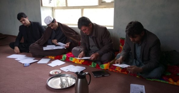 A men's workshop in Chaab district, Afghanistan. Photo: Rosaleen Martin / Concern Worldwide.