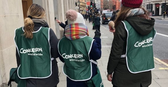 Concern street fundraisers out and about in London. Photo: Lola Sole