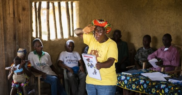 A Mothers' Group Training Session with Ousmah and Korpo, Liberia. Photo: Nora Lorek
