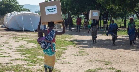 A Concern distribution following Cyclone Idai in Malawi. Photo: Gavin Douglas