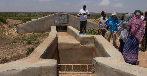 An underground water tank near Shirwac. Photo: Eamon Timmins/Concern Worldwide
