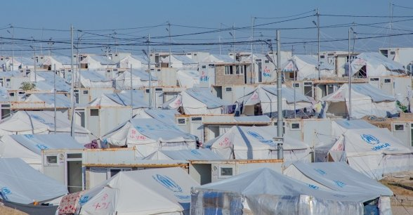 A refugee camp in north-west Iraq. Photo: Gavin Douglas
