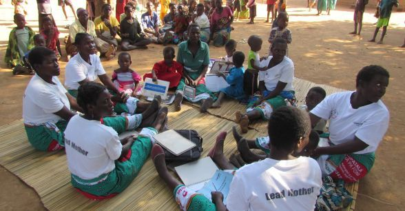 Lead mothers provide guidance to members within Concern Worldwide's care groups. Photo taken by Concern Worldwide.
