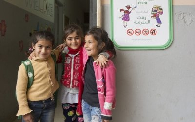 Syrian children attending Concern's non-formal education in Lebanon. Photo: Chantale Fahmi/Concern Worldwide.