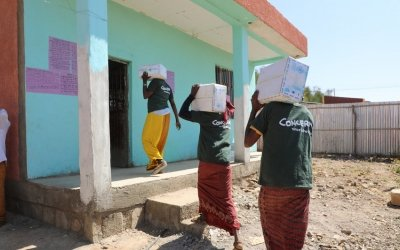Concern staff working hard in the Somali Region, Ethiopia Photo: Jennifer Nolan/ Concern Worldwide
