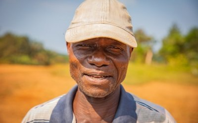 Jacob David is village elder in Yarplah Town. Jacob's village resposibilities include; Counselling; Teaching and participating at board meetings. Photo: Gavin Douglas / Concern Worldwide.