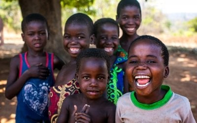 Children laughing and playing in Malawi. Photo Jennifer Nolan / Concern Worldwide.