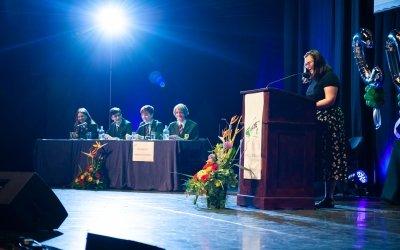 Debate team taking part in a Concern Debate.  Photo: Camila Gomes / Concern Worldwide / May 2019