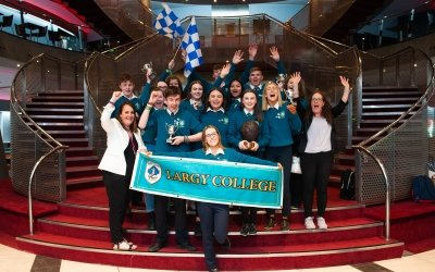 Largy College winners of Concern Debates 2019. Photo: Camila Gomes / Concern Worldwide / May 2019