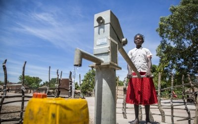 15 year old Liliana Mwenza wa llunga says the new water point and other interventions by the Concern-led WASH consortium in her village, Mulombwa, has had a very positive impact on family life. Photo: Kieran McConville/ Concern Worldwide