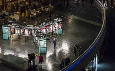 Concern Worldwide's Free From Hunger exhibition from above. Photo: Kevin Percival