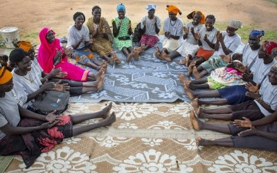 The Majok Mother Care Group photographed in an area of Aweil, South Sudan. Photo: Abbie Trayler-Smith