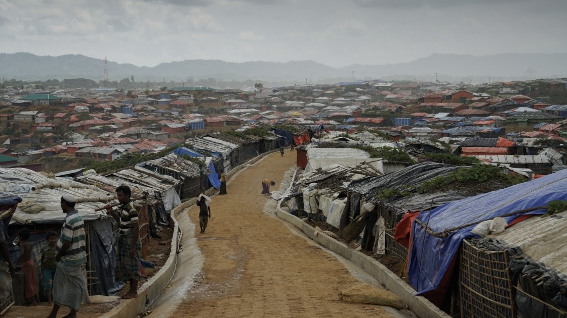 Cox'z Bazar refugee camp in Bangladesh. Photo: Abir Abdullah / Concern Worldwide.