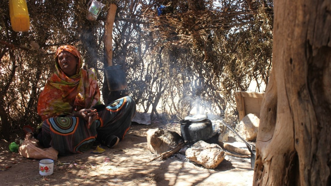 Roda Mussa Mohamed has benefited from a new water point in her village constructed by Concern Worldwide. Photo: Erin Wolgamuth, Somaliland, Jan 2017