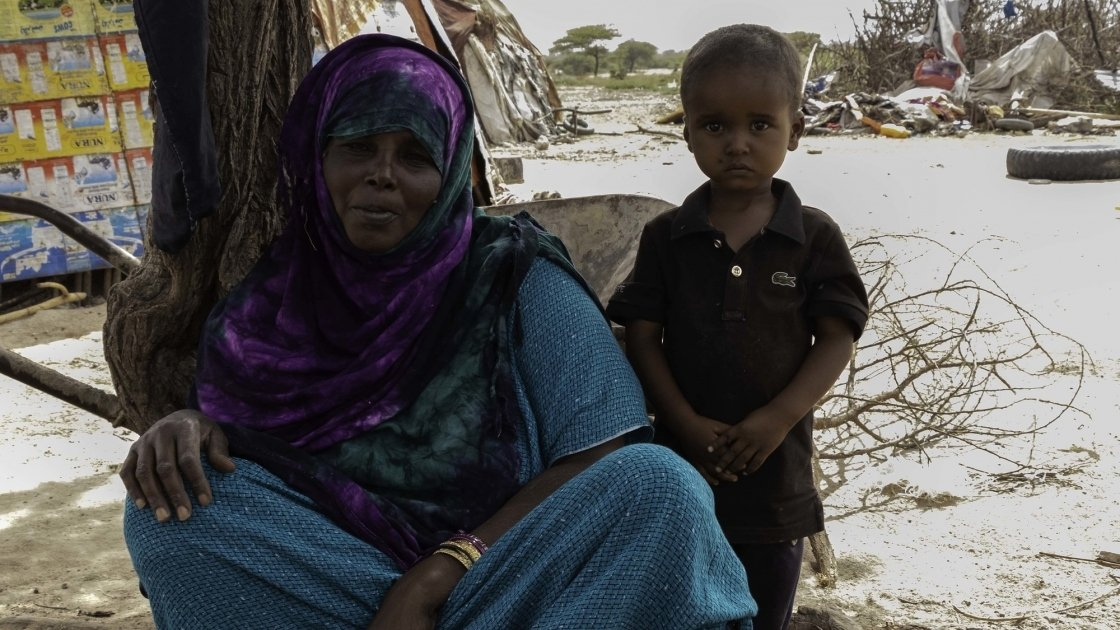 Roda Osman with her son Oman. Photo: Eamon Timmins/Concern Worldwide