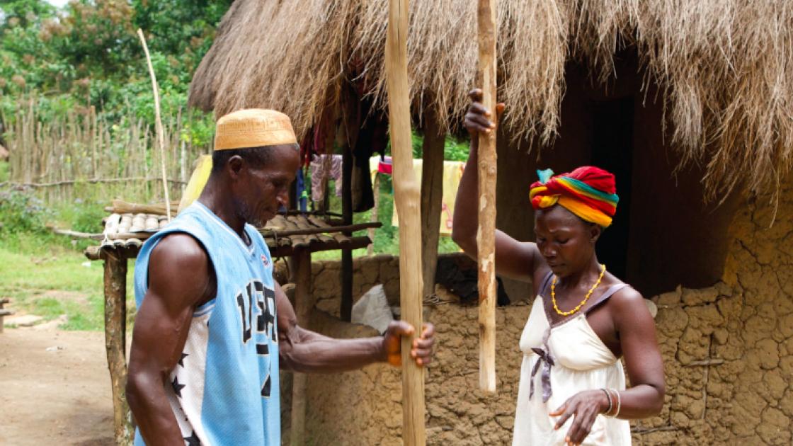 Ibrahim Koroma and his wife Gbassy work together in Sierra Leone. Photo: Concern Worldwide