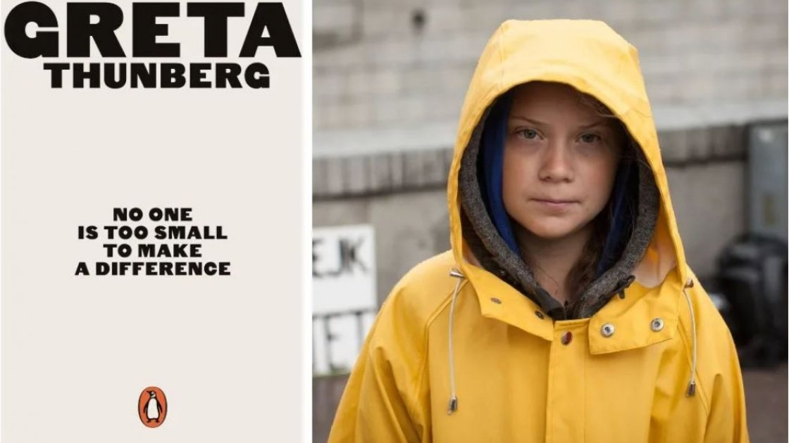 Greta Thunberg, 'No one too small to make a difference'. Photo credit: plantbasednews.org