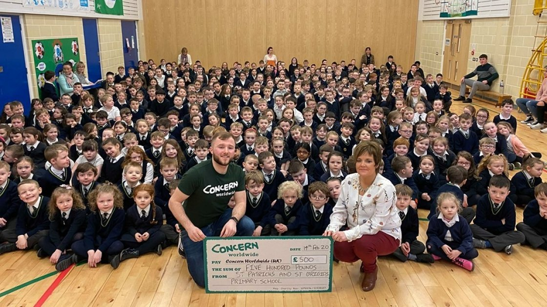 St Patricks & St Brigids Pirmary School raising a fabulous £500
