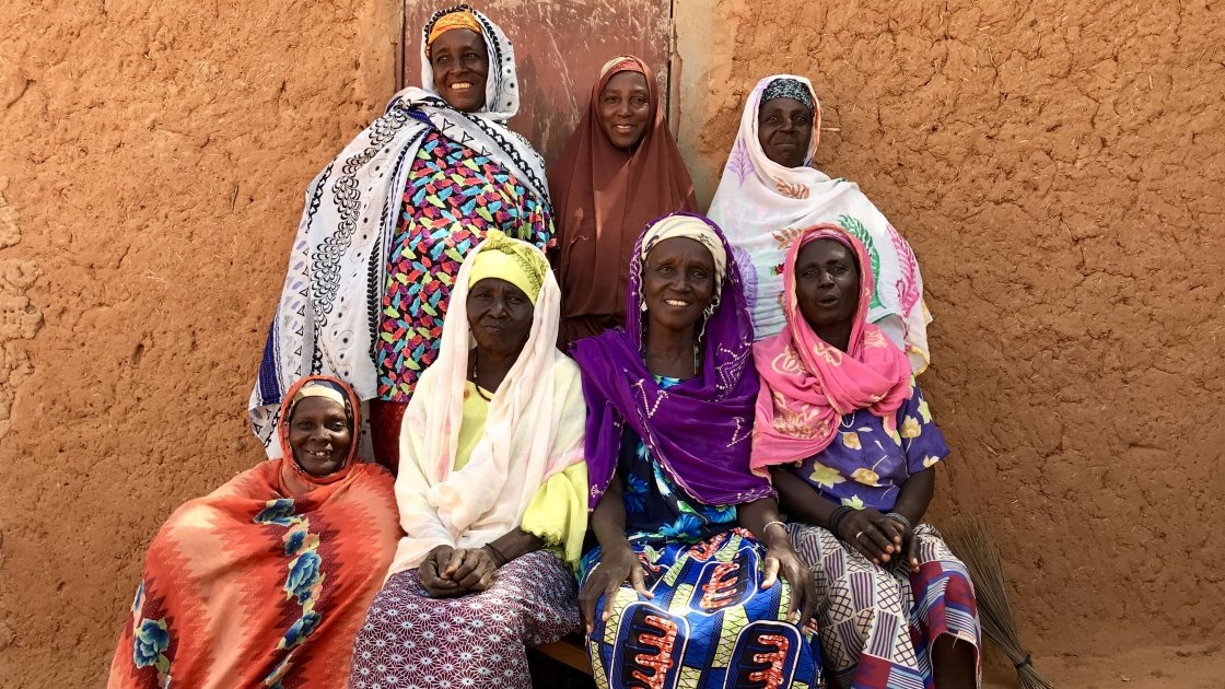 Women from the village of Agaye who have made 600 bars of soap in the past three months to help improve hygiene in the community.  Photo: Darren Vaughan