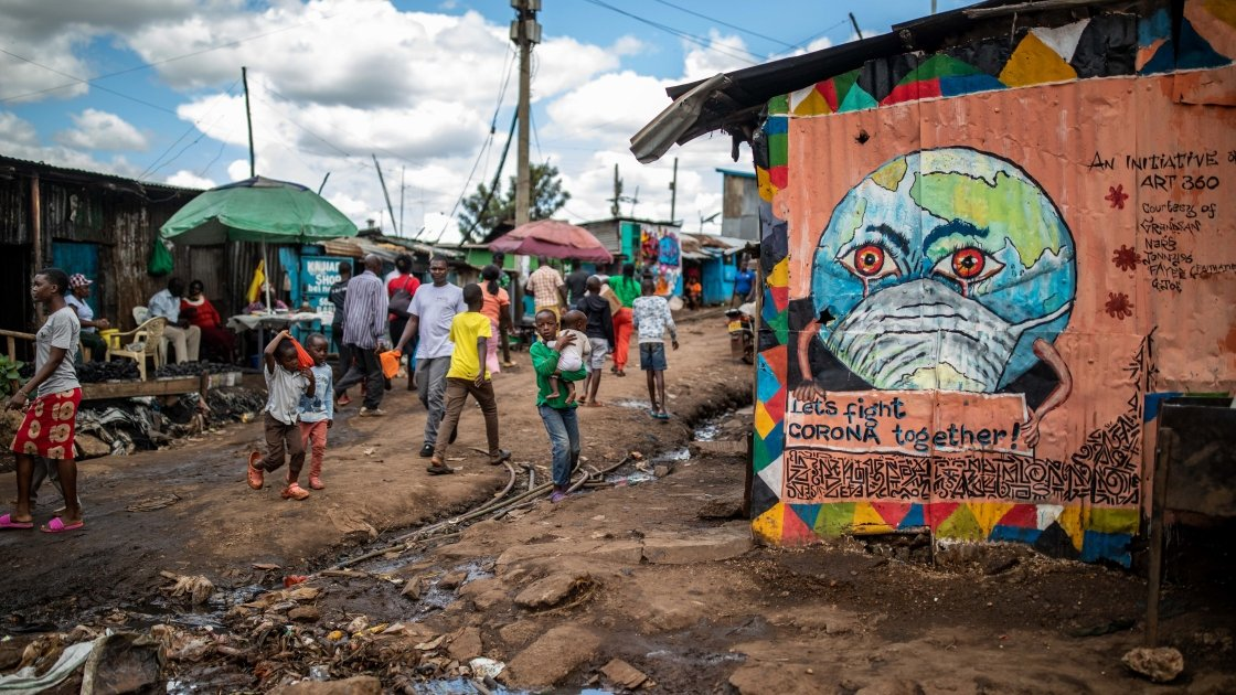 Street art in Kenya to spread awareness of the coronavirus pandemic