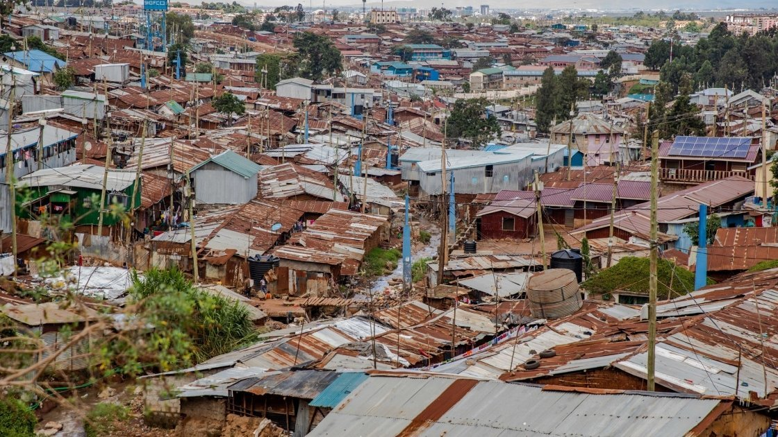General View of Kibera Slum, Nairobi, Kenya Photo: Ed Ram