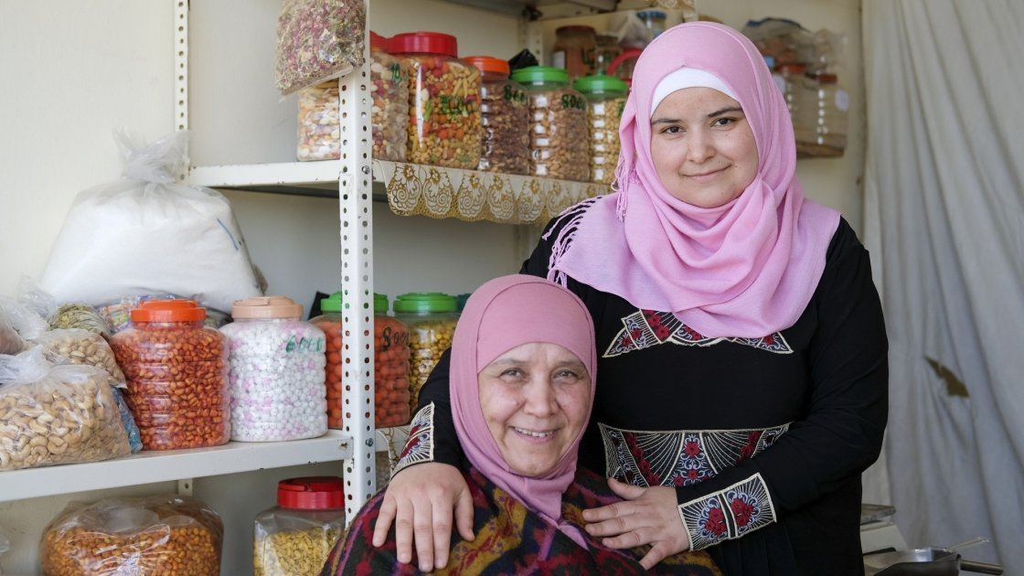 "Bushra and her mum, Dalia. ""My mother is everything to me,"" said Bushra. Photo: Darren Vaughan"