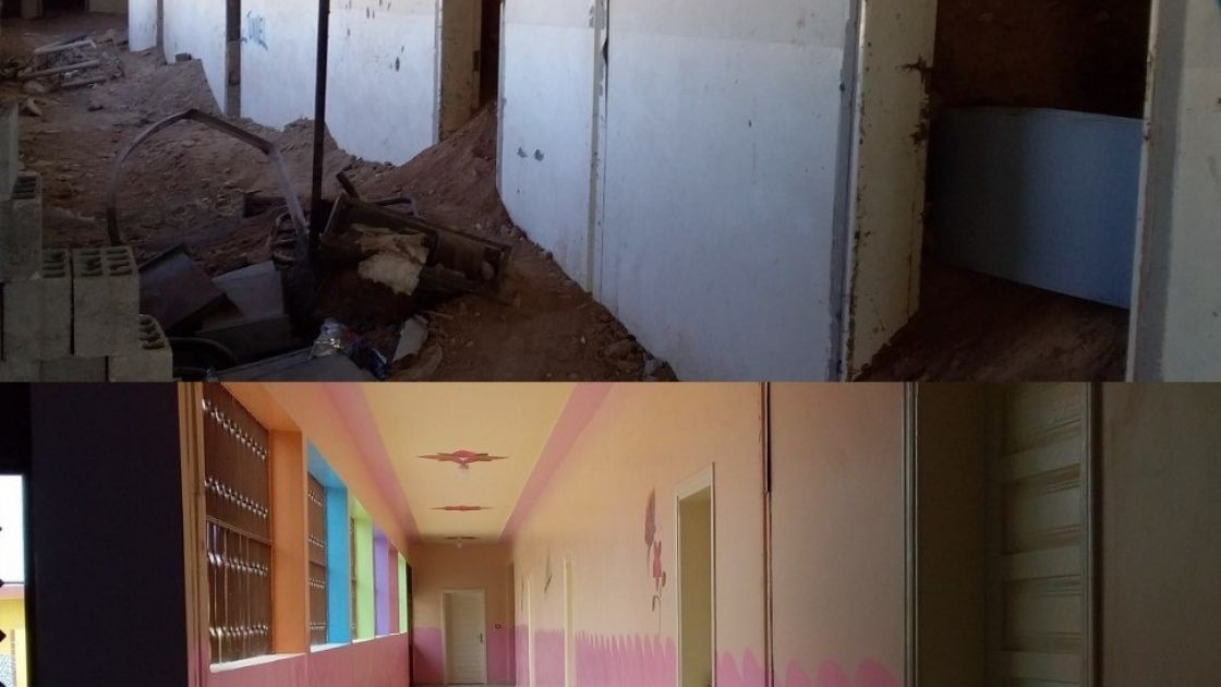 A school in Northern Syria damaged by conflict has been rehabilitated to be inclusive, child friendly and safe for learning