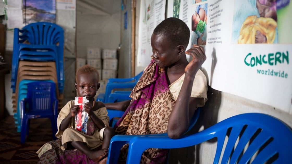 For children who are malnourished right now, therapeutic food is the best way to get  them the calories and nutrients they need to recover from malnutrition  and build their strength. Photo: Abbie Trayler-Smith / Concern Worldwide