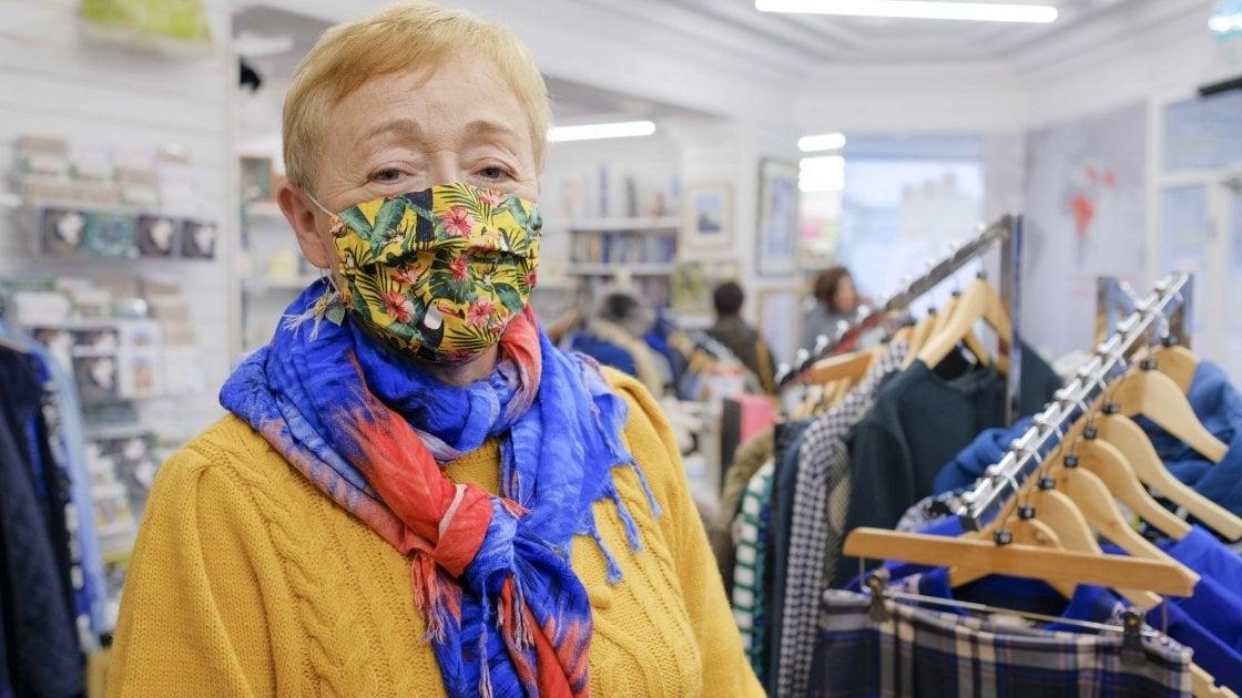 Ormeau Road shop volunteer, Joan Douglas. Photo: Darren Vaughan