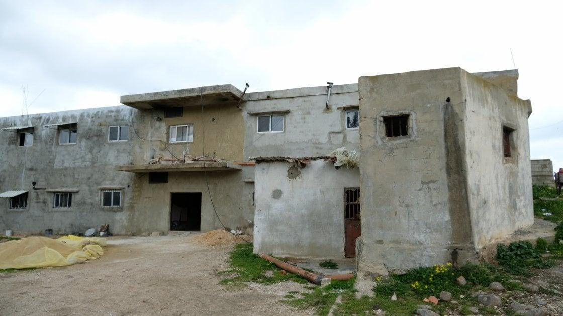 Concrete collective centre, home to ten Syrian refugee families