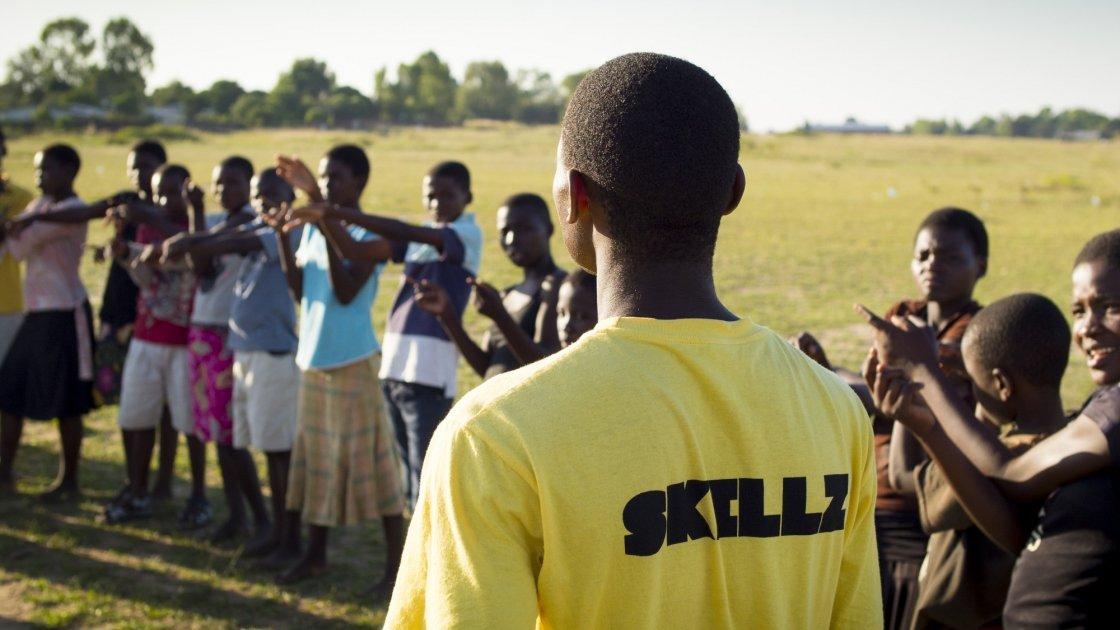 Children taking part in Concern's Skillz training.