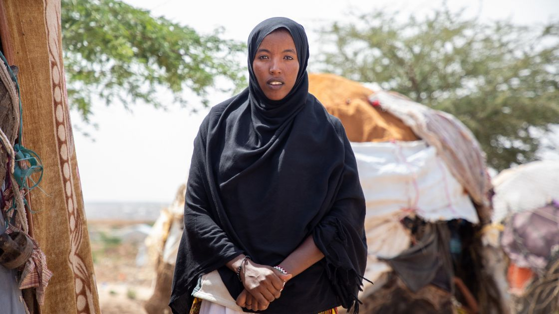 Khadan Hamed (19). After she finishes high school, she hopes to become a doctor.  Photo: Gavin Douglas/Concern Worldwide