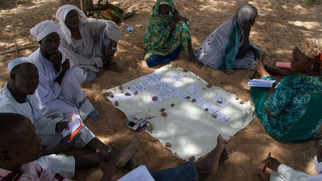A community plans for an emergency in the Sila Region, Chad. Photo: Dom Hunt/Concern Worldwide.