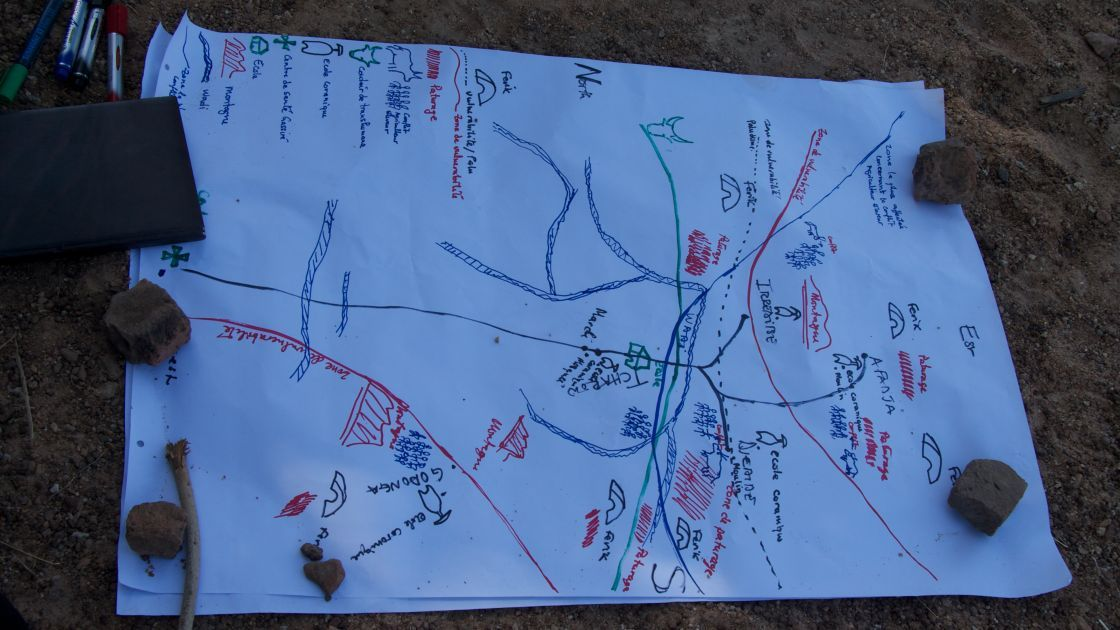 Hazard map of the committee area. Photo: Dom Hunt / Concern Worldwide.