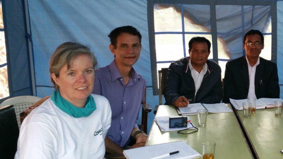 Concern aid worker Anne Marie McCarthy in Nepal